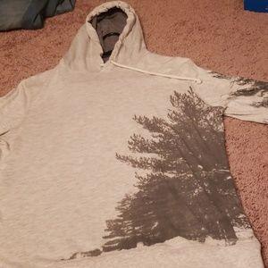 Long sleeve grey hoodie